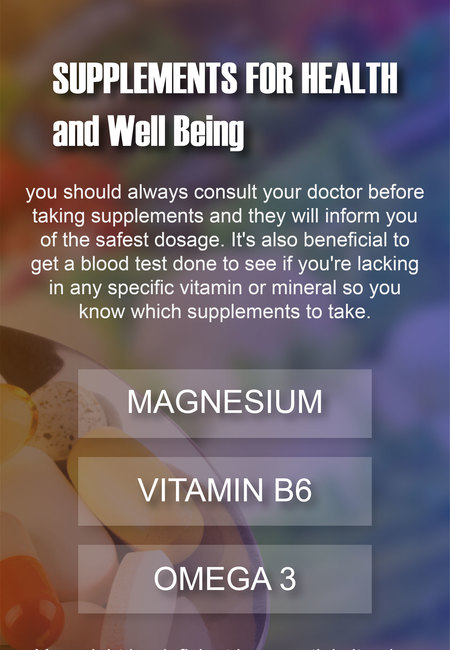 Supplements for health and well being