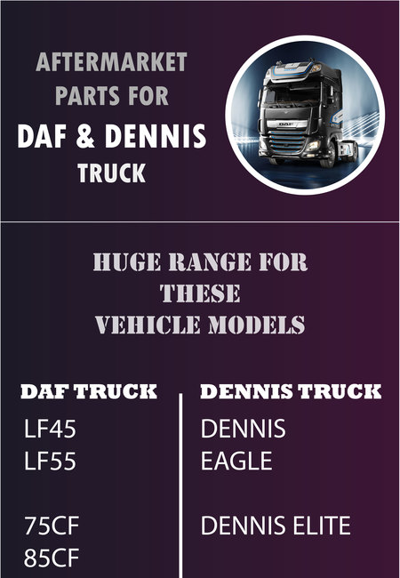 Aftermarket parts for daf and dennis truck