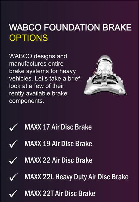 Wabco foundation brake options