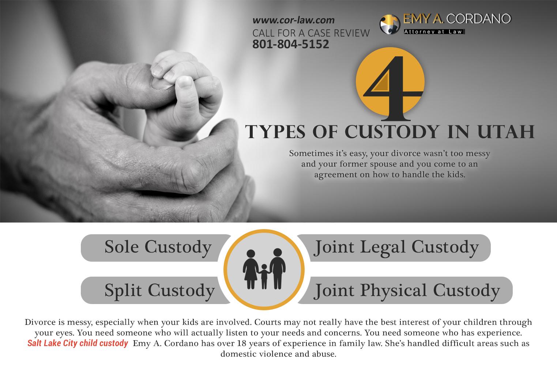 4 types of custody in utah