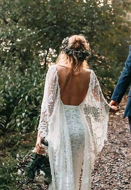 Boho wedding dresses with sleeves open back sheath lace grace loves lace 512x1024