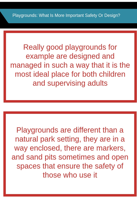 Playground   what is more important safety or design