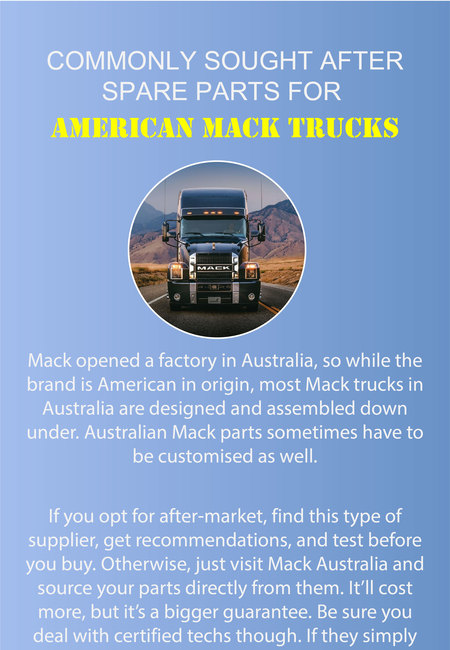 Commonly sought after spare parts for american mack trucks 11