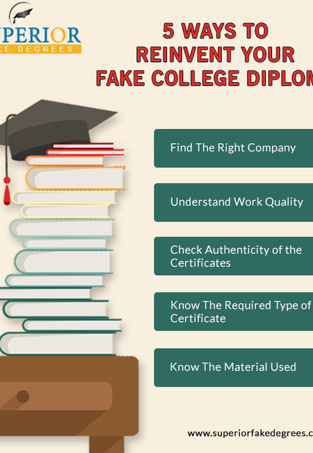 5 ways to reinvent your fake college diploma