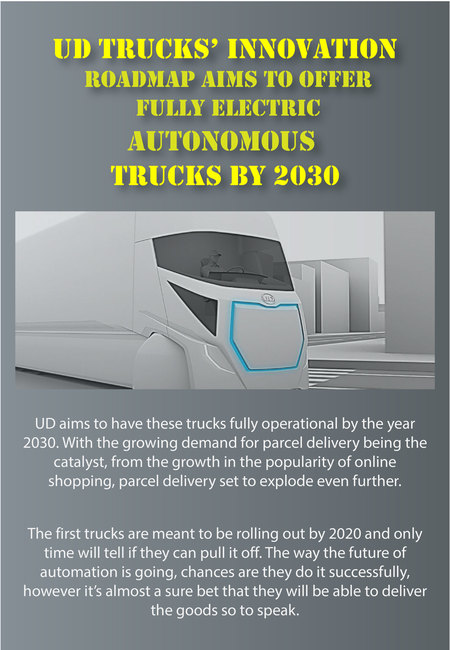 Ud trucks innovation  electric autonomous trucks by 2030