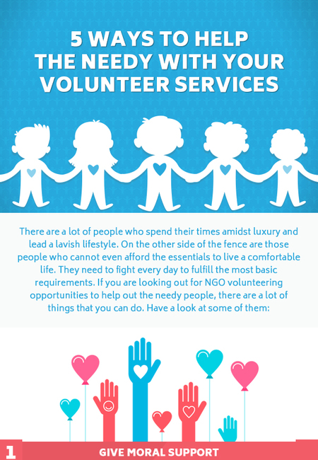 5 ways to help the needy with your volunteer services