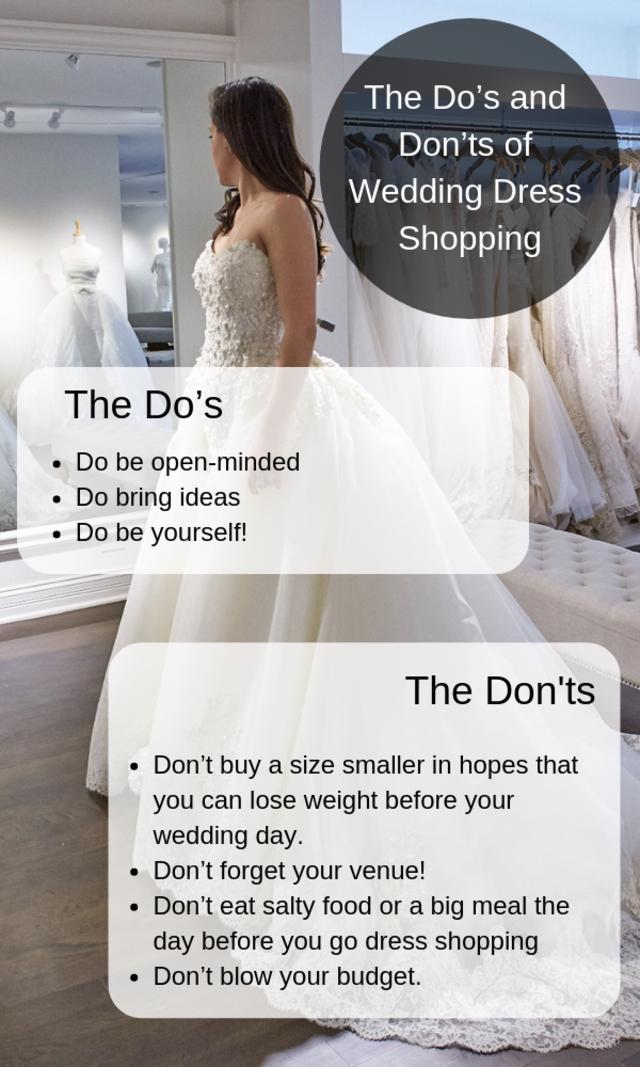The do%e2%80%99s and don%e2%80%99ts of wedding dress shopping