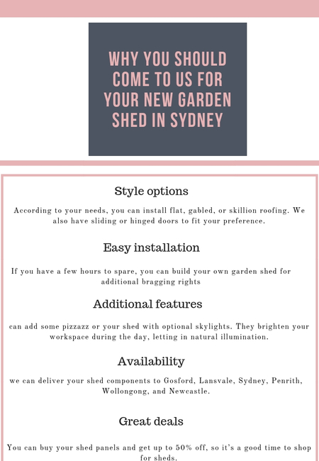 Why you should come to us for your new garden shed in sydney