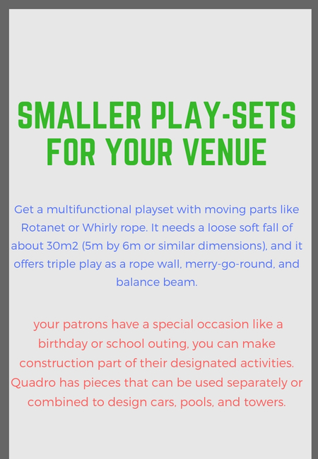 Playset for your venue