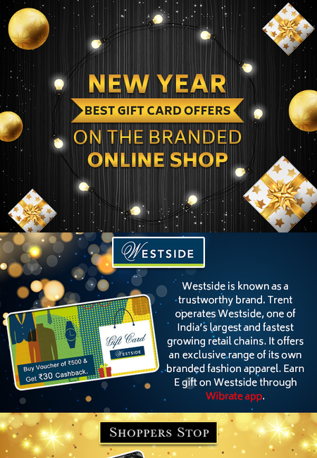 New year best gift card offers on the branded online shop