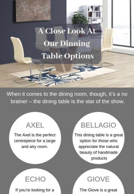 A close look at our dinning table options