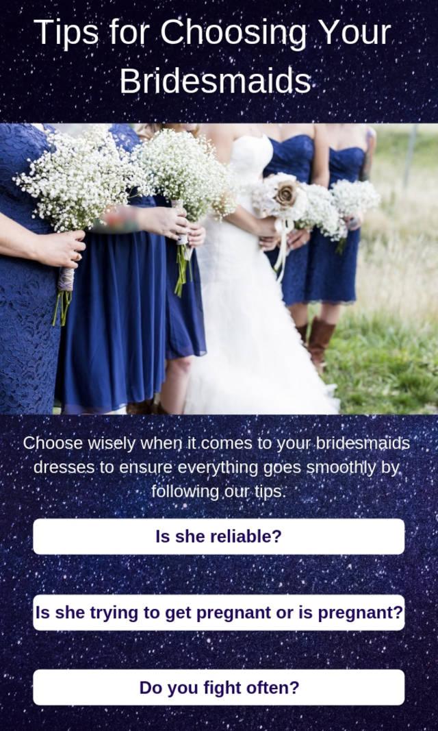 (igcs) tips for choosing your bridesmaids