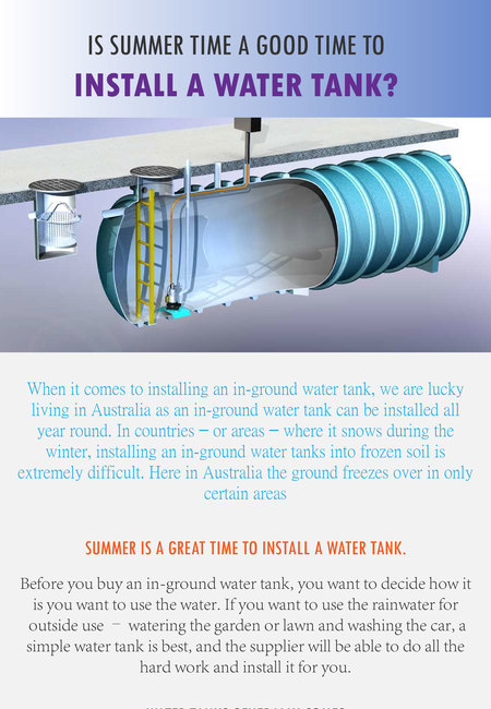 Is summer time a good time to install a water tank