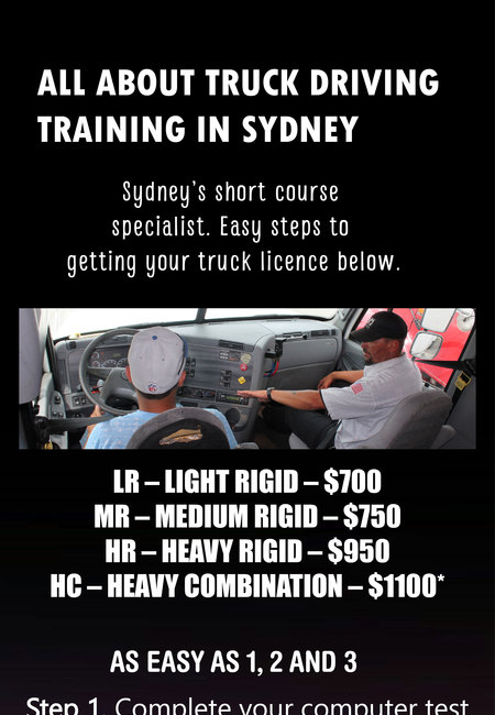 All about truck driving training in sydney
