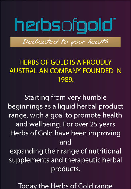 Herbs of gold supplements and nutritional products