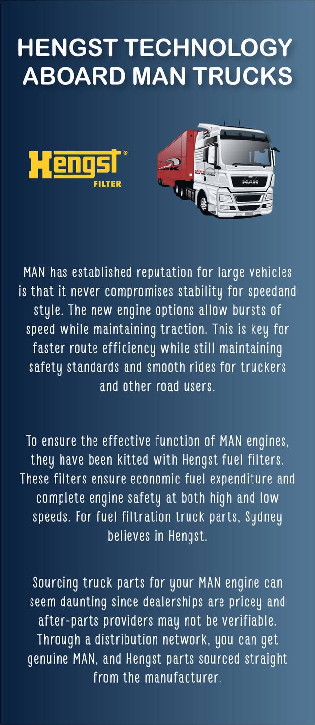 Hengst technology aboard man trucks