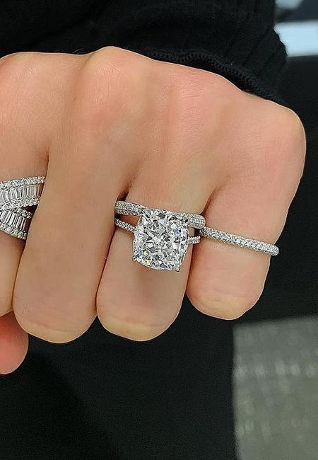 Engagement ring shapes diamond cushion cut gold ringconcierge