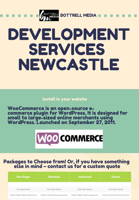 Woo commerce development services newcastle