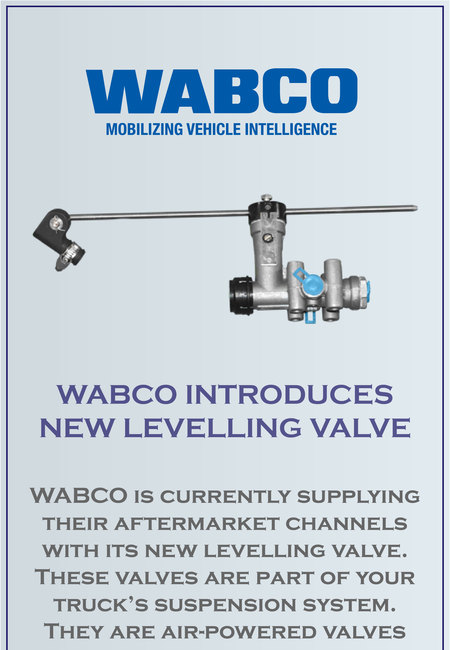 Wabco introduces new levelling valve