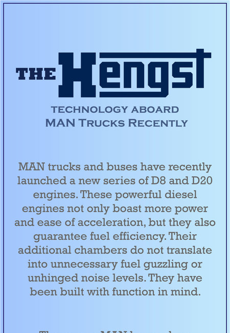 The hengst technology aboard man trucks recently