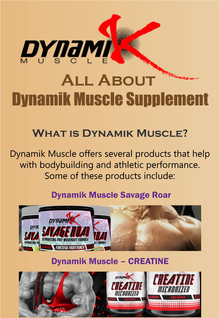 All about dynamik muscle supplement