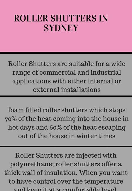 Roller shutters in sydney