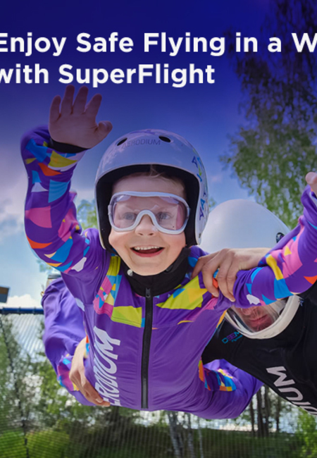 Enjoy safe flying in a wind tunnel with superflight