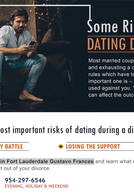 Some risks of dating during divorce