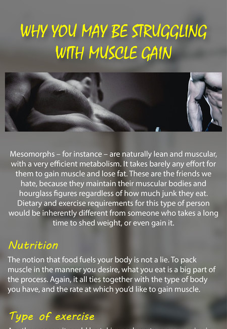 Why you may be struggling with muscle gain