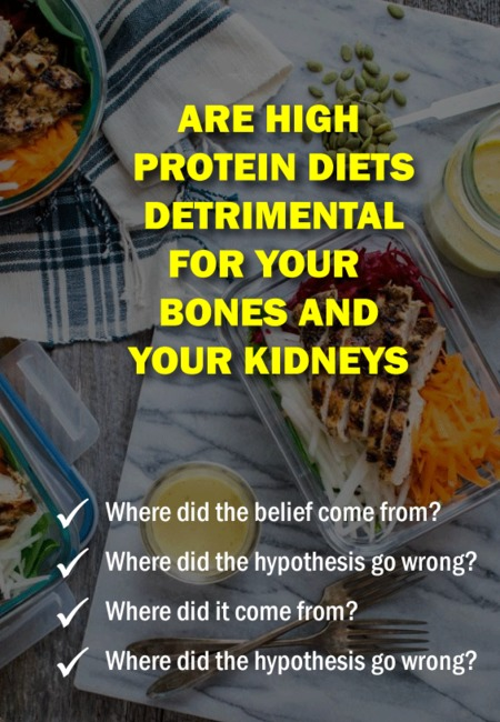 Are high protein diets detrimental for your bones and your kidneys