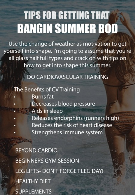 Tips for getting that bangin summer bod
