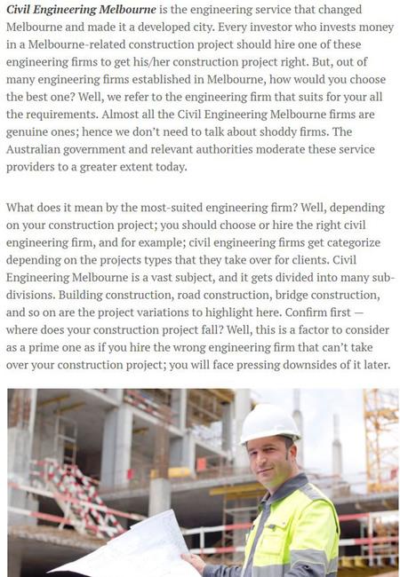 Civil engineering melbourne