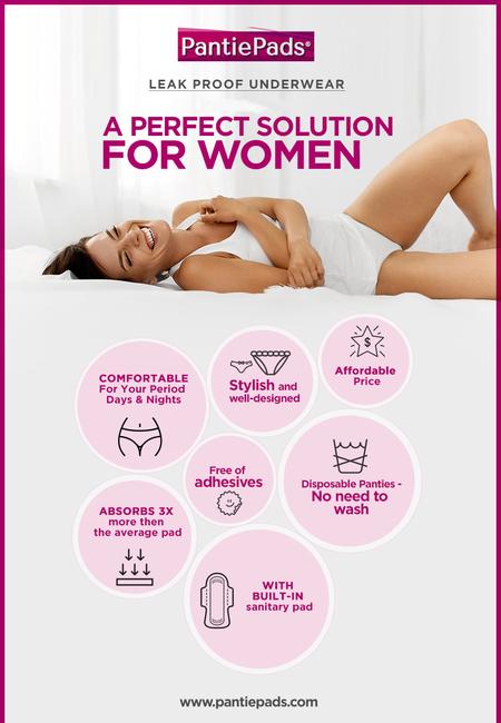 Leak proof underwear  a perfect solution for women