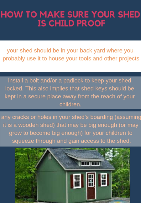 How to make sure your shed is child proof