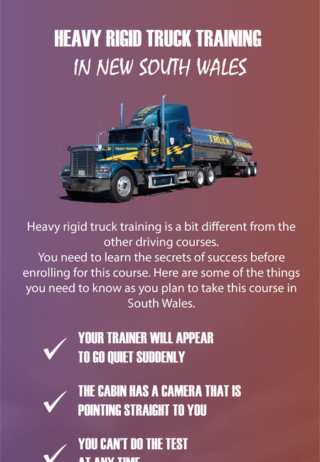 Heavy rigid truck training in new south wales