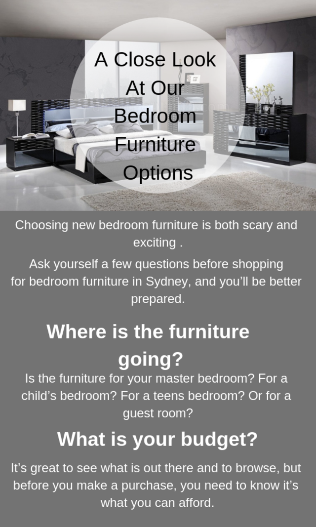 A close look at our bedroom furniture options