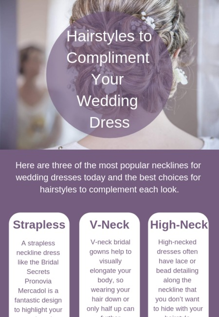 Hairstyles to compliment your wedding dress