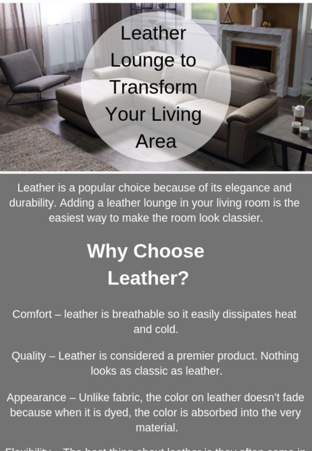Leather lounge to transform your living area
