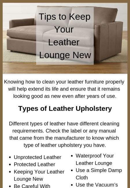 Tips to keep your leather lounge new