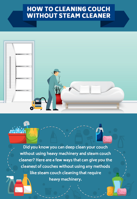 How to cleaning couch without steam cleaner