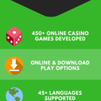 Microgaming casino software infographics