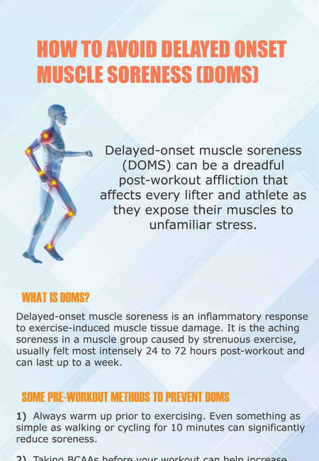 How to avoid delayed onset muscle soreness (doms)