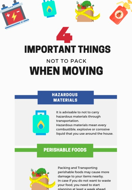 4 important things not to pack when moving