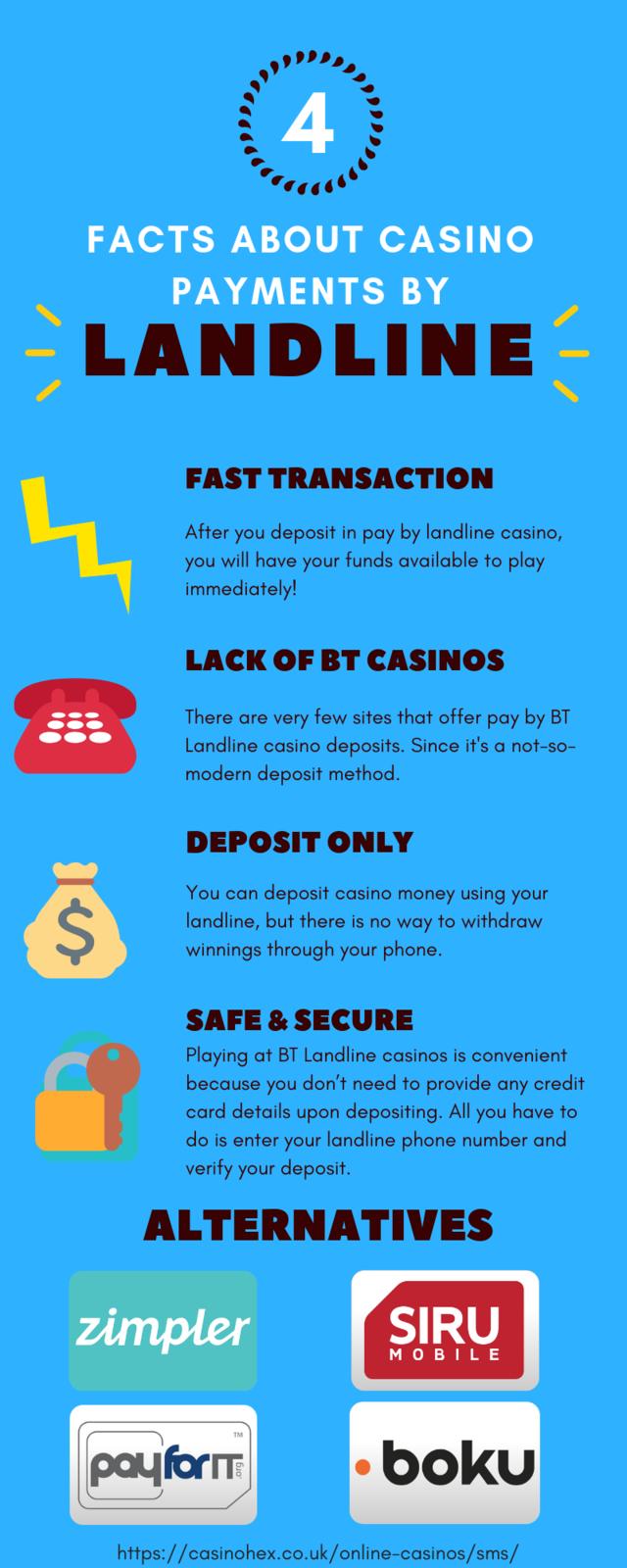 Landline casino features infographic