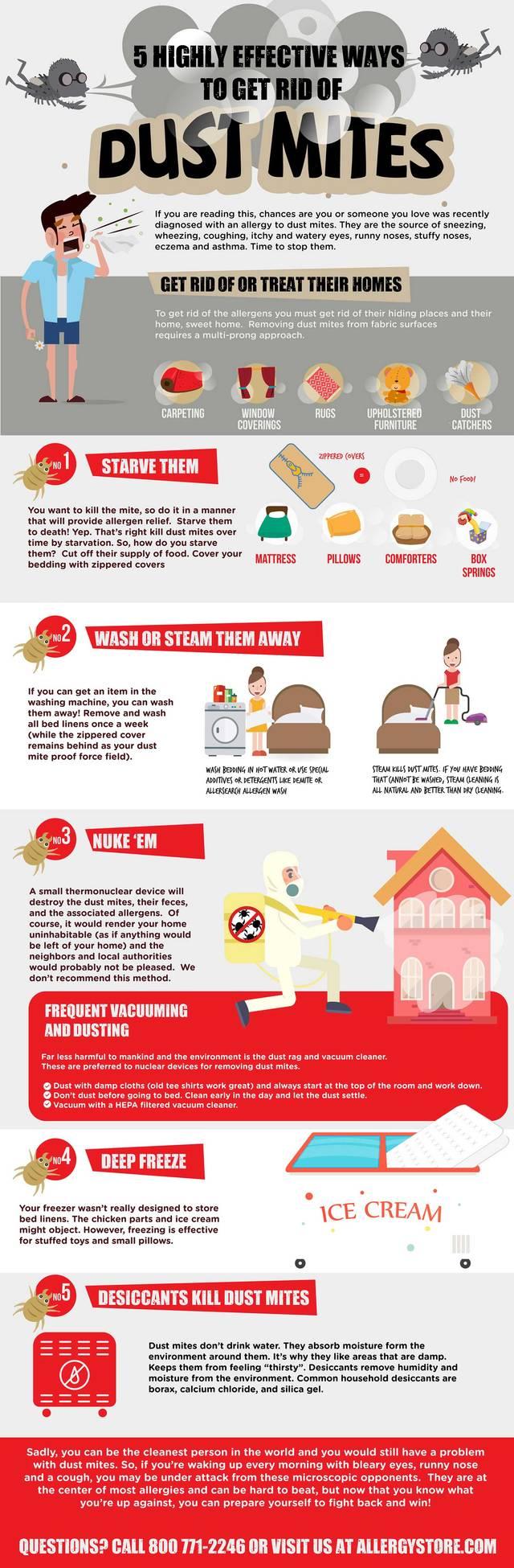 5 way get rid dust mites 1000