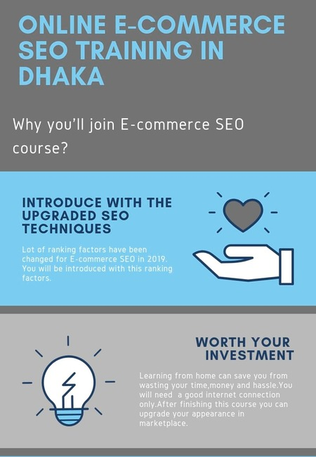 Online e commerce  seo trainning in dhaka