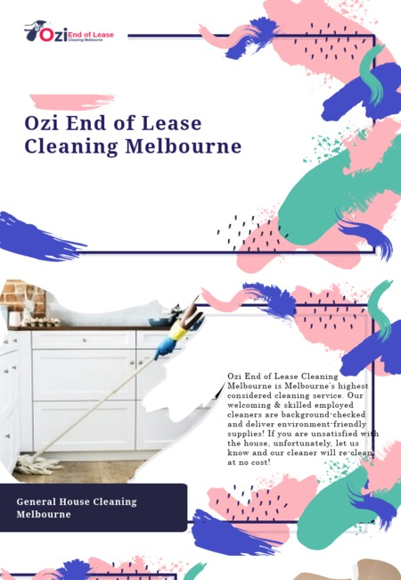 Ozi end of lease cleaning melbourne info