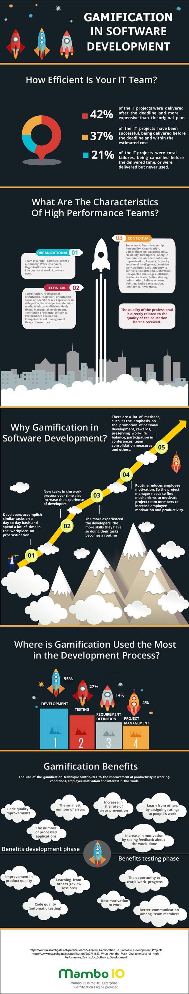 Development gamification infographic