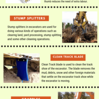 List of excavator track cleaning tools for productivity.