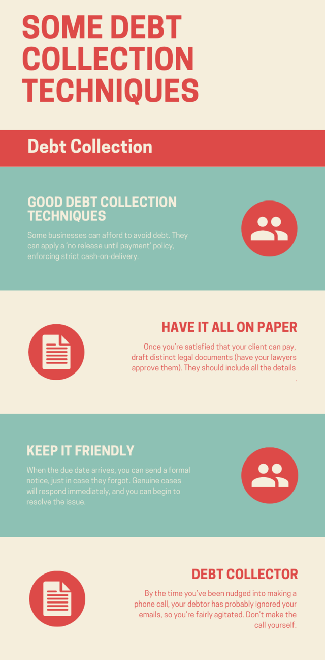 Some debt collection techniques